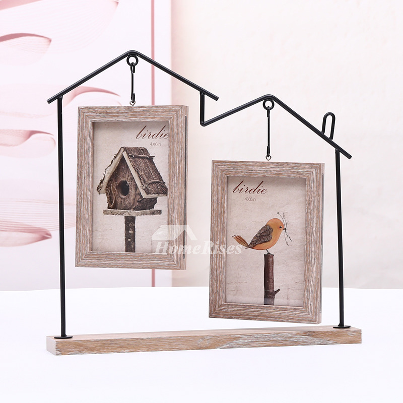 4x6 picture frames personalized double iron wood glass cheap. Black Bedroom Furniture Sets. Home Design Ideas