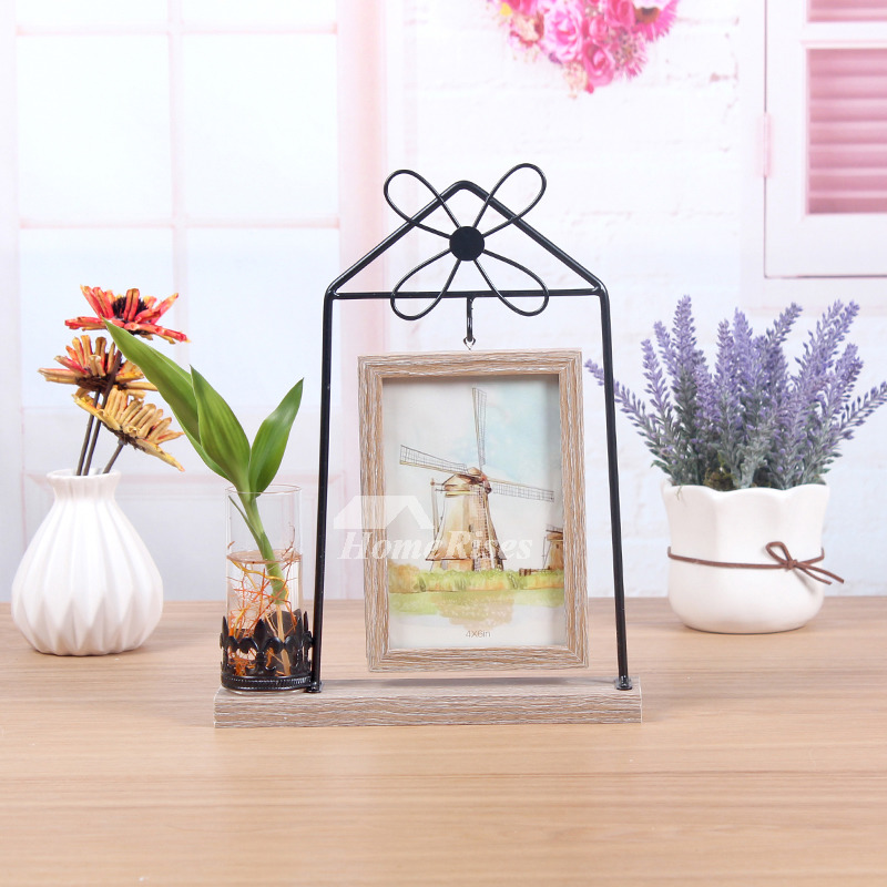 Wooden Picture Frames Cheap Metal Hanging 4X6 Rectangule Unique
