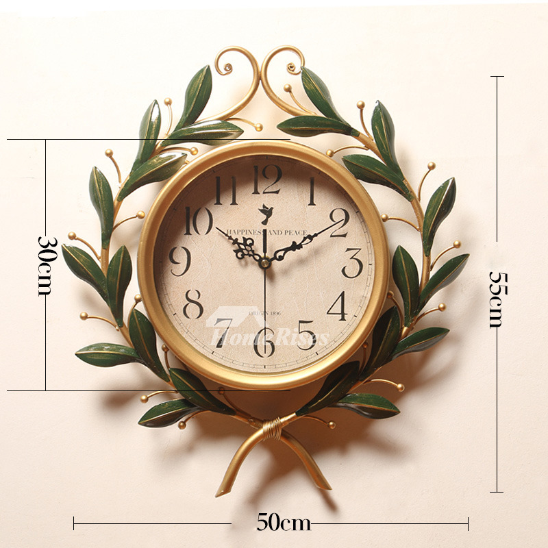 Unusual Wall Clocks Elegant Wrought Iron 16 20 Inch Oversized Silent