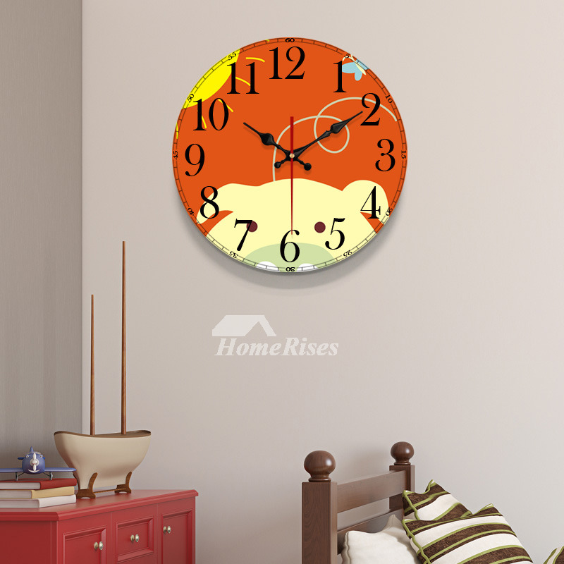 Beautiful Wall Clocks Large 12 14 16 20 Inch Wooden Colorful Best