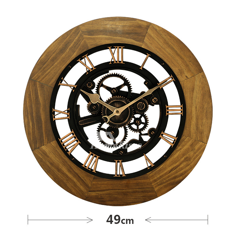 Industrial Mechanical Wall Clock Round 16 20 Inch Large