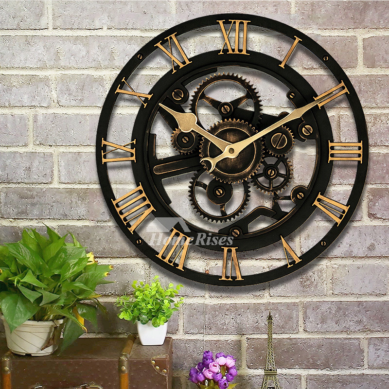 Industrial Wall Clock Mechanical Round Large 14 Inch Cheap
