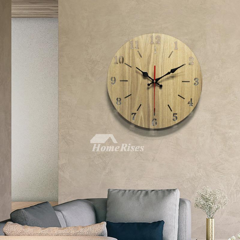 Contemporary Wall Clocks Rustic 12 14