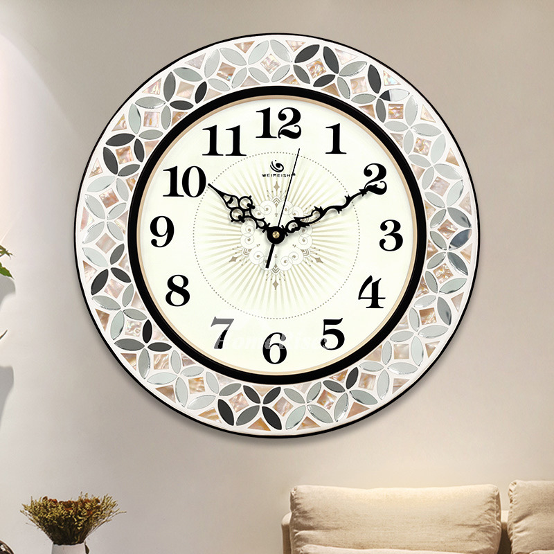 Large Wall Clocks Round 16 Inch Unusual Cheap Metal Glass