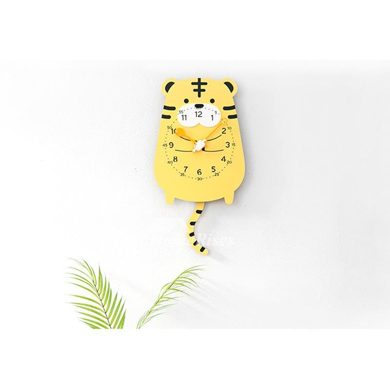 Funny Wall Clocks Acrylic Kids Cute Yellow/Pink/Brown Novelty Cheap