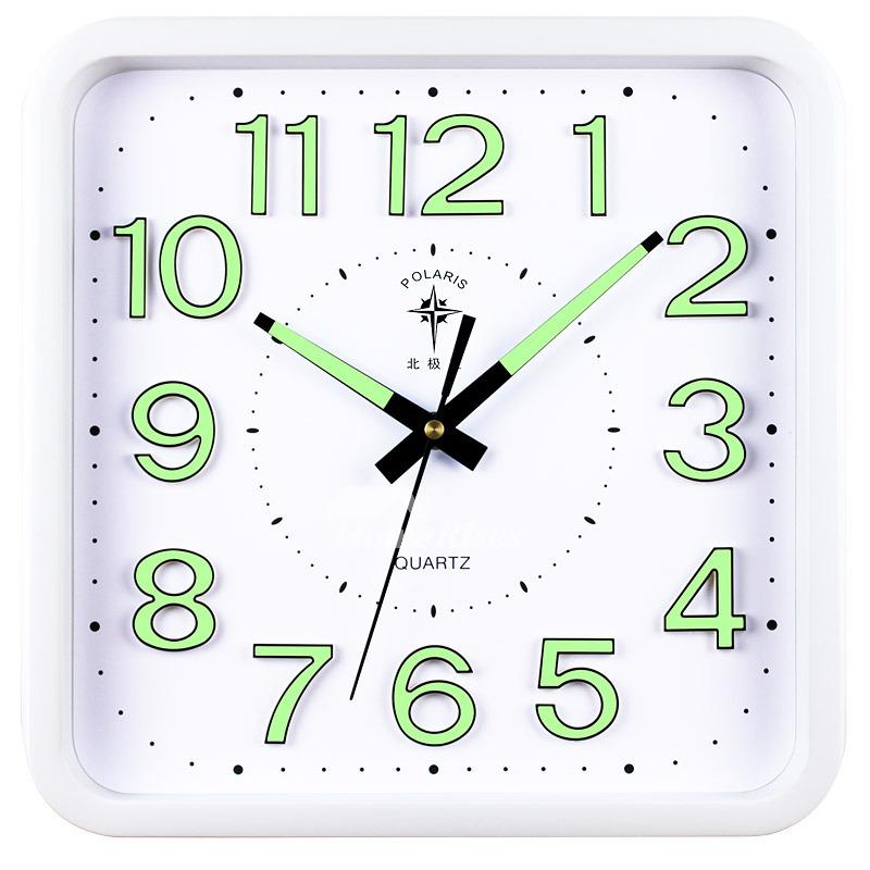 Illuminated Wall Clock Square Simple Analog Creative