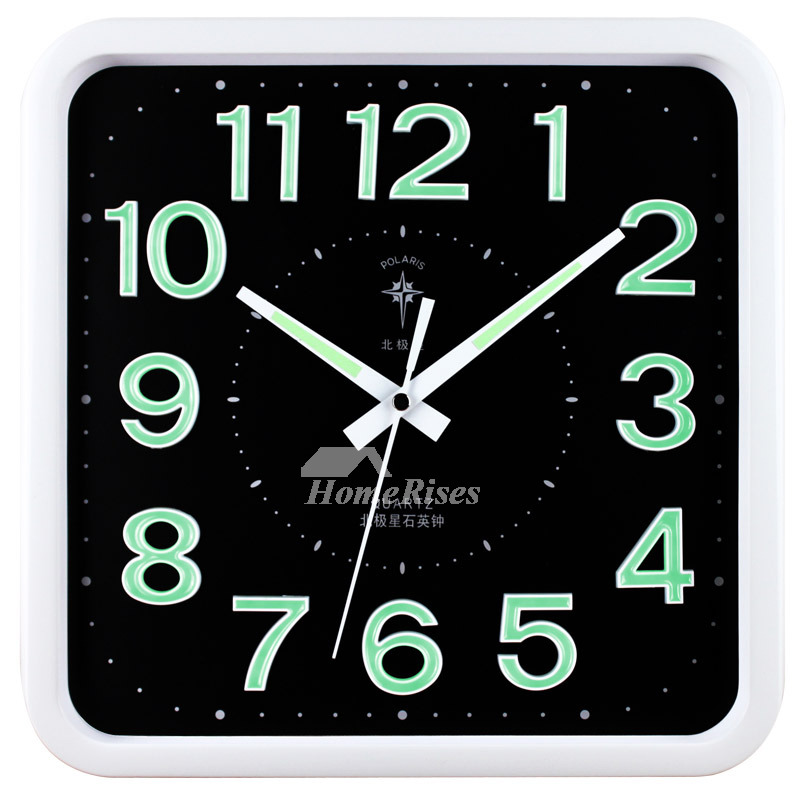 Illuminated Wall Clock Square Simple Analog Creative