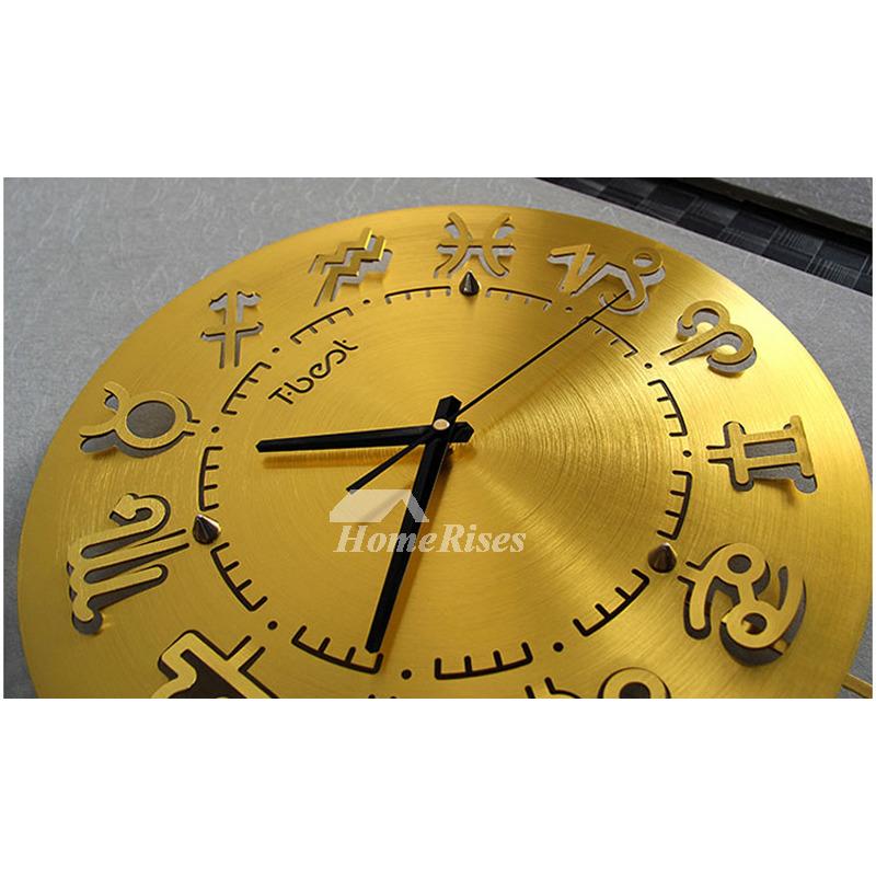 Modern Luxury Wall Clocks 15 Inch Silverredgoldblue Pendulum Big