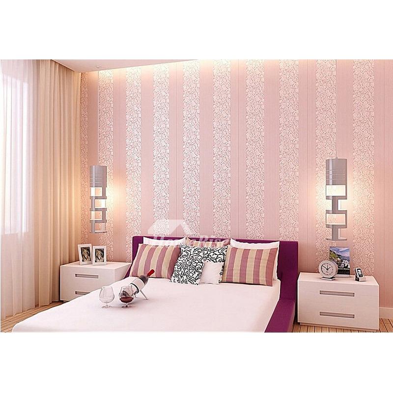 Cheap Wallpaper Textured White Cream Blue Pink Beige Modern Kitchen