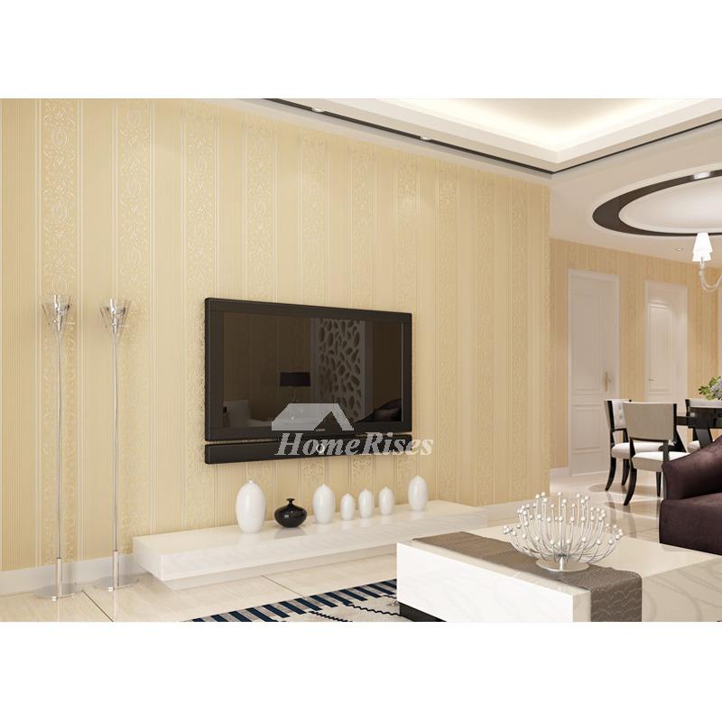 Cheap Wallpaper Textured White Cream Blue Pink Beige