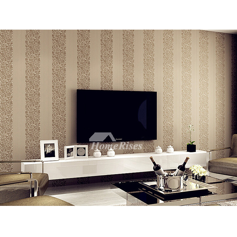 Bedroom Wallpaper Non Woven Fabric Beige White Blue Pink Textured
