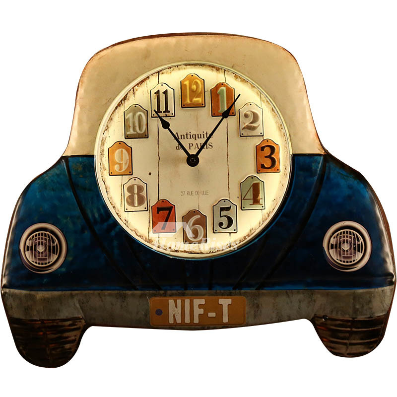 Lighted Wall Clock Metal Analog Silent Kids Funky Living