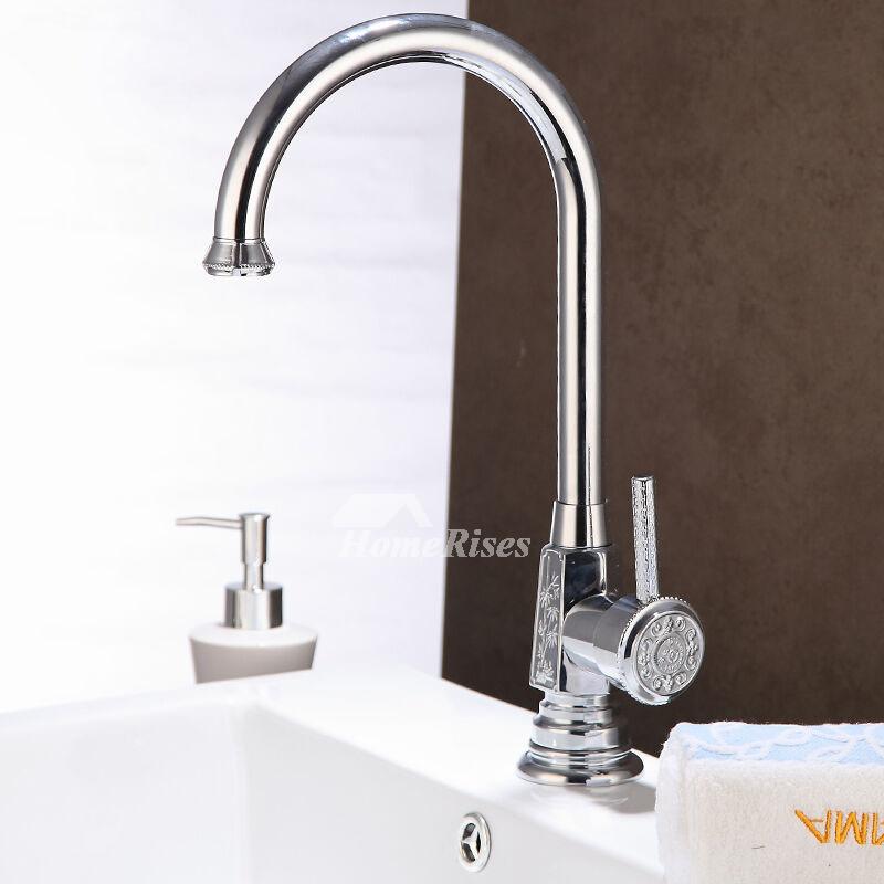 LTJ Luxury Modern Chrome/Brushed Nickel Gooseneck Bathroom Faucet