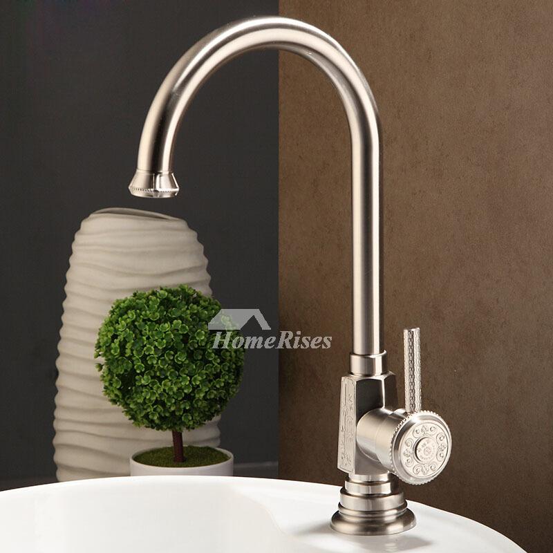 Ltj Luxury Modern Chrome Brushed Nickel Gooseneck Bathroom