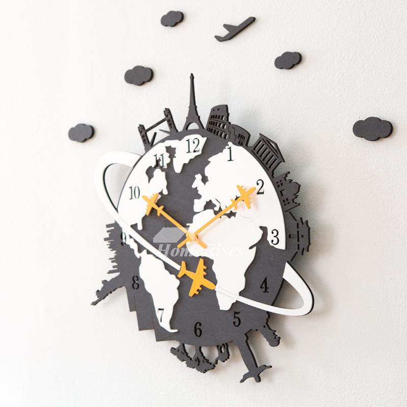 Cool Clocks 16 Inch Large Creative Wooden Bedroom Novelty Bedroom