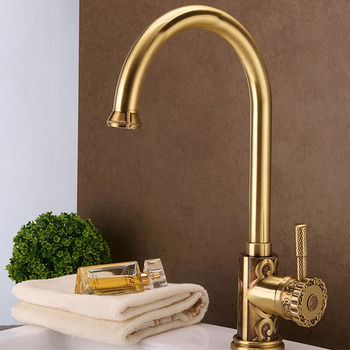 Buy Brass Kitchen Faucets, Antique, Polished, Brushed Brass Faucets