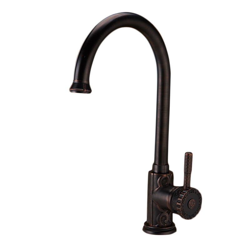 Oil Bronze Kitchen Faucet | Ltj Oil Rubbed Bronze Kitchen Faucet Black Gooseneck Luxury 15 Inch