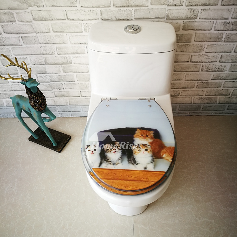 Cute Fancy Animal Decorative Soft Close Elongated Resin