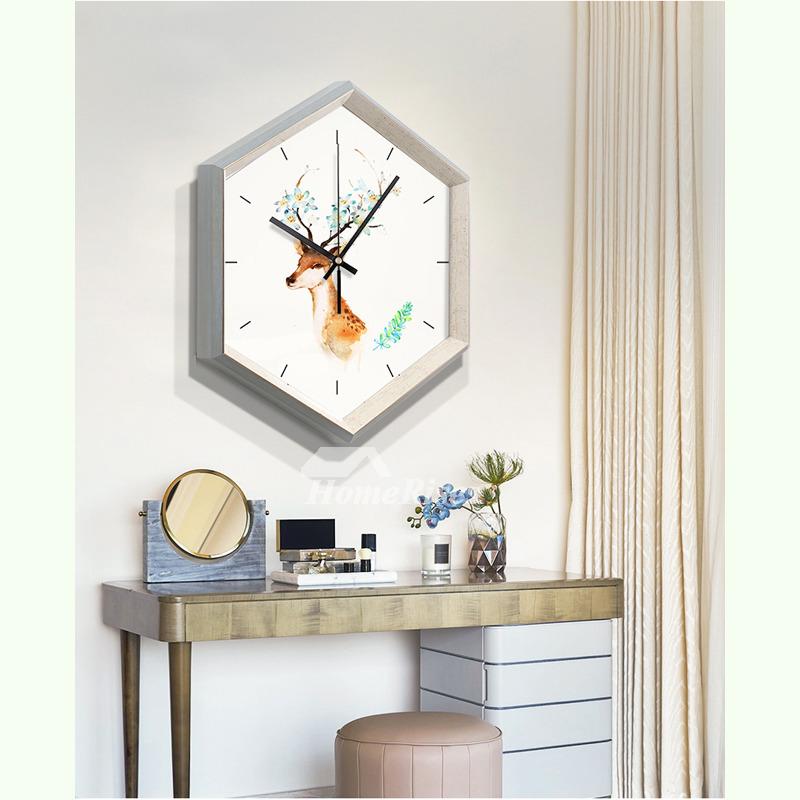 Modern Wall Clock Plastic Glass Living Room Cheap Novelty