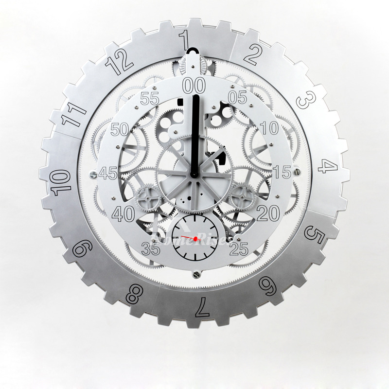 Stainless Steel Mechanical Wall Clock