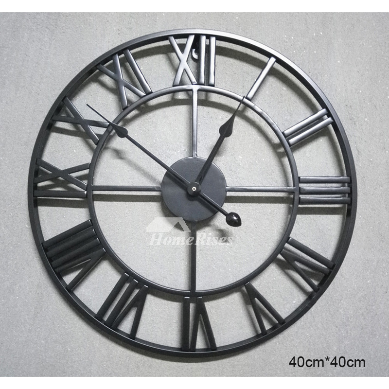 Gear Wall Clock Industrial Mechanical 16 Inch Large Round