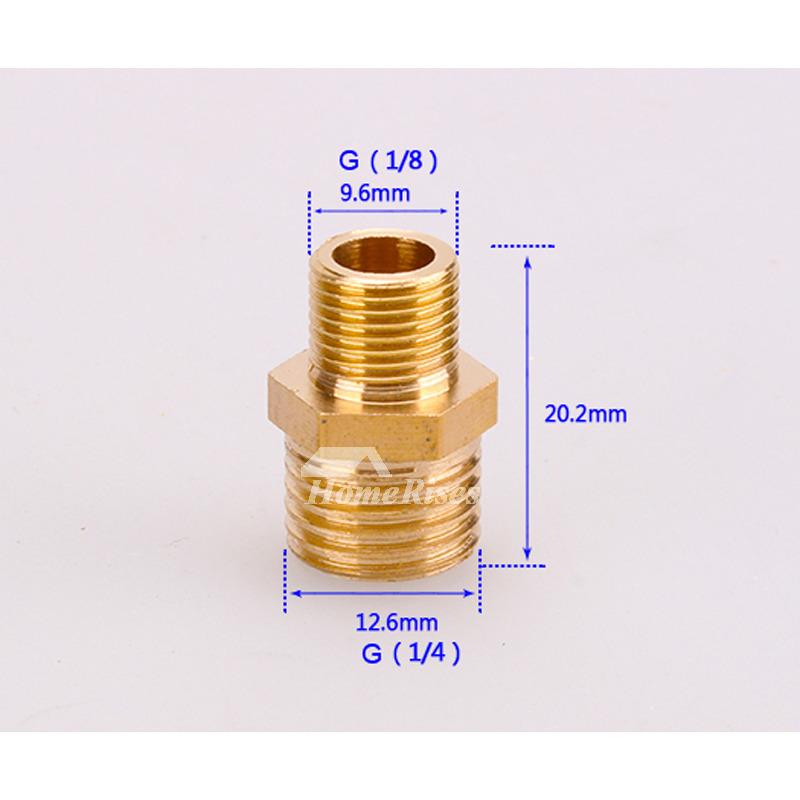 Best Brass G1 4 G1 2 G1 2 G3 8 Faucet Connector Bathroom Solid