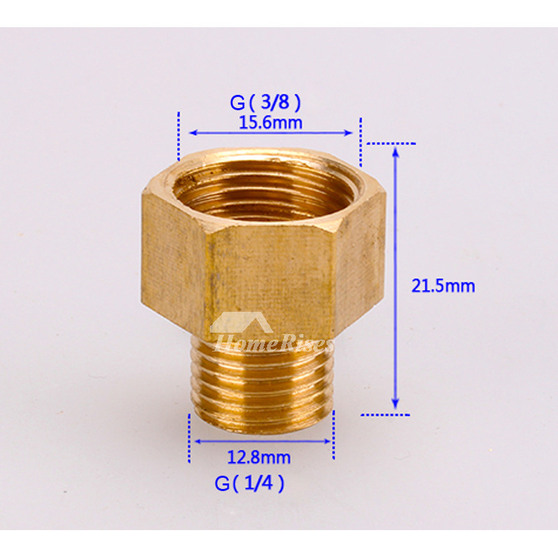 Solid Brass Gold Luxury G3/8 G1/4 G1/2 Bathroom Faucet Connector