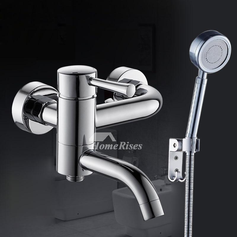 Bidet Hand Held Wall Mounted Chrome Brass Silver Single