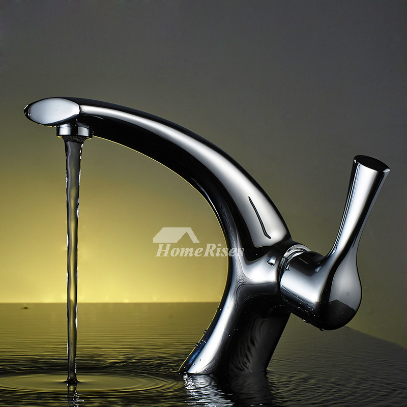 Gold And Chrome Bathroom Faucets.Cheap Bathroom Faucets Silver Gold Gooseneck Chrome Polished 1 Hole