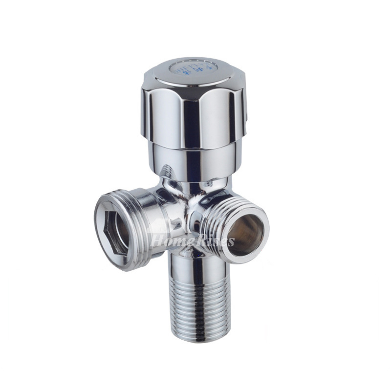 Solid Brass Chrome Silver Faucet Valve Bathroom Kitchen Faucet Solid