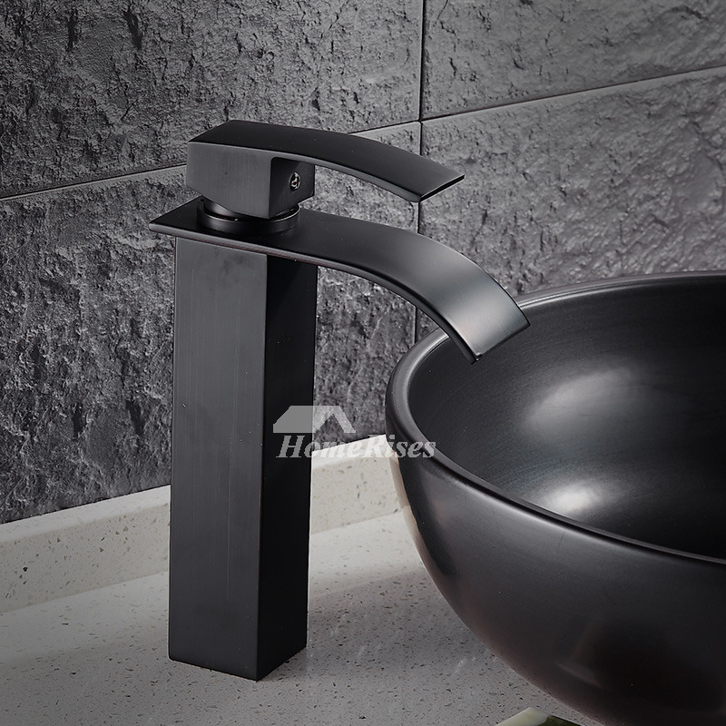 Matte Black Bathroom Faucet Painting Single Handle Modern Industrial