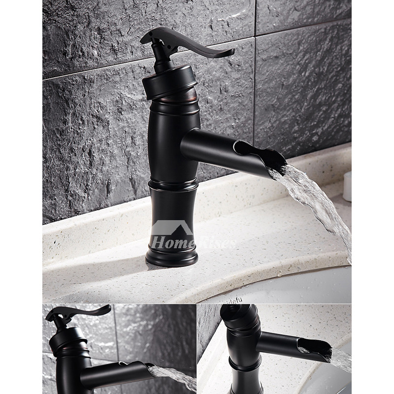Matte Black Bathroom Faucet Painting Single Handle Modern