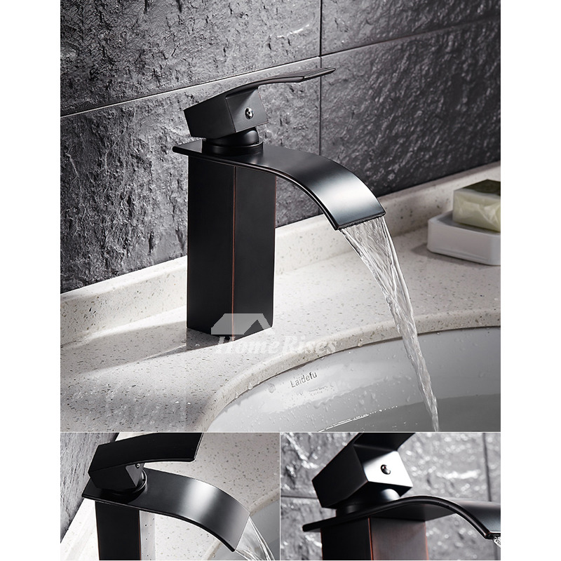 Designer Oil Rubbed Bronze Industrial Bathroom Faucet