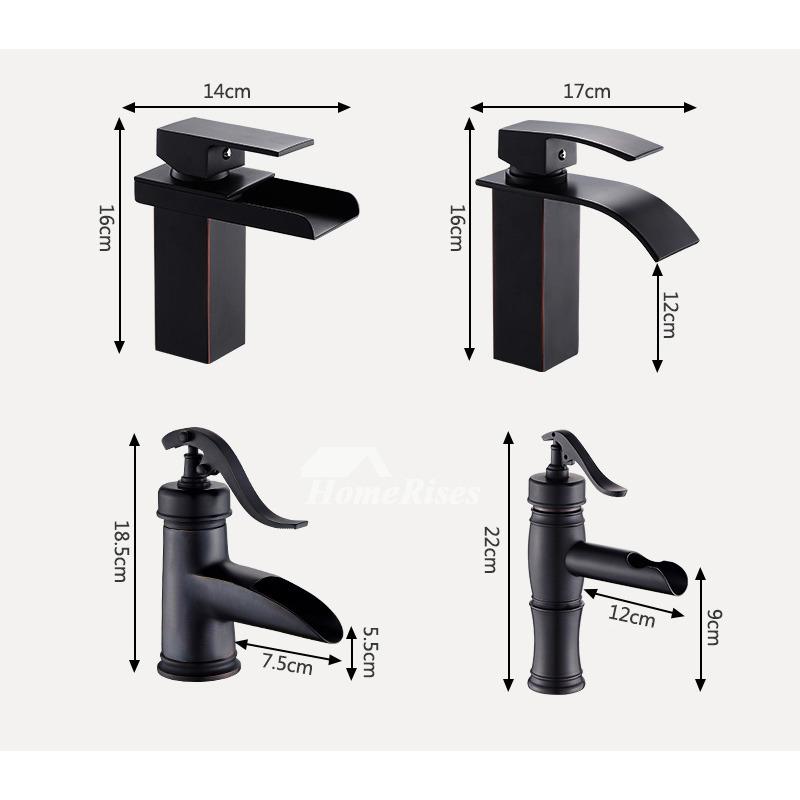 Designer Oil Rubbed Bronze Industrial Bathroom Faucet