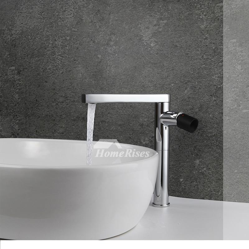 Modern Bathroom Faucets Brass Rotatable Single Handle Silver Black