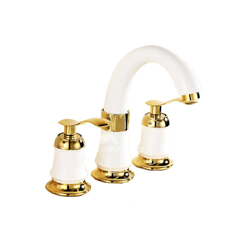 Roman Bathtub Faucet Ceramic Brass Polished Widespread 3