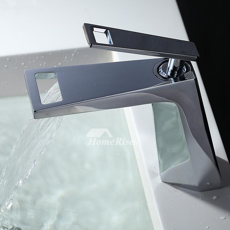 Modern Bathroom Faucet White Silver Black Brass Chrome