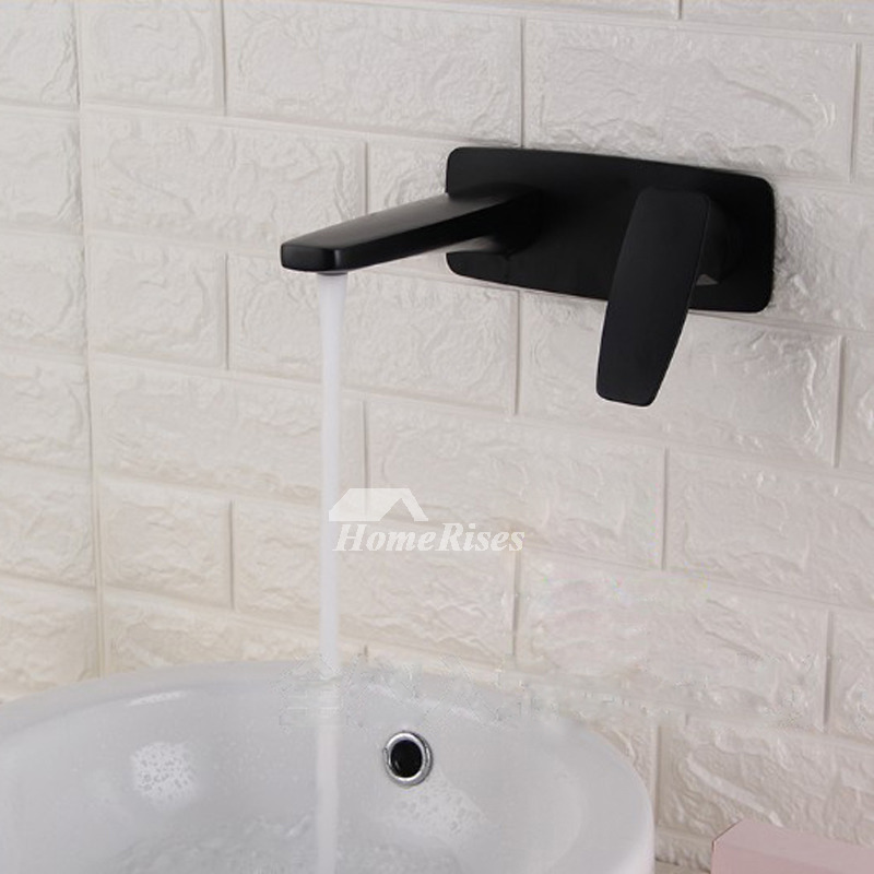Black Bathroom Faucets Wall Mount Brass Oil Rubbed Bronze 1 Handle