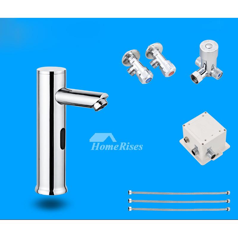Magnificent Bathroom Faucet Fixtures Designer Touchless Silver Chrome Battery Download Free Architecture Designs Ferenbritishbridgeorg
