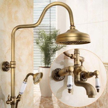Antique Brass Exposed Shower System