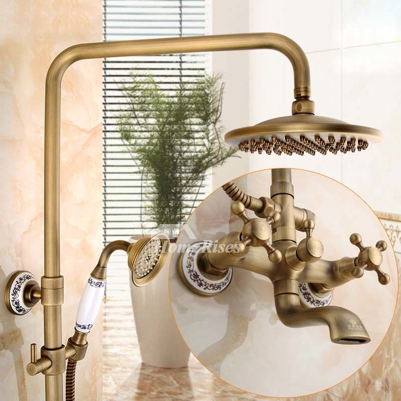 Antique Shower Fixtures Image And Candle