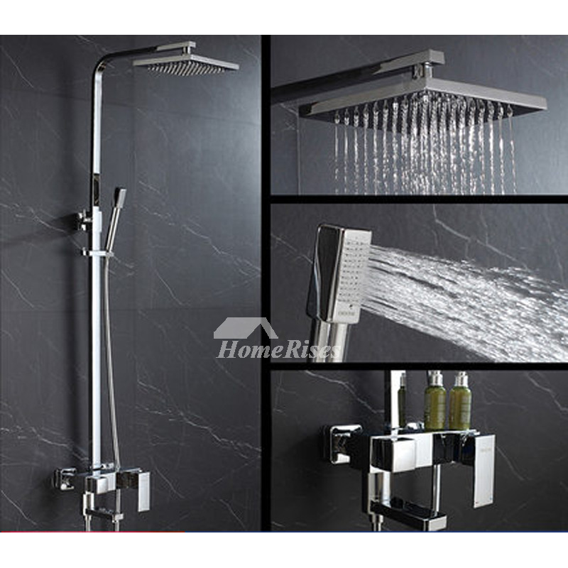 Best Shower Faucets Pressurized Wall Mount Square Single