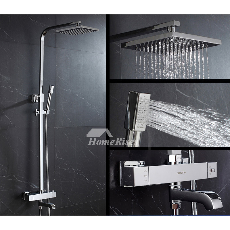 Outdoor Shower Faucet Silver Chrome Brass Wall Mounted