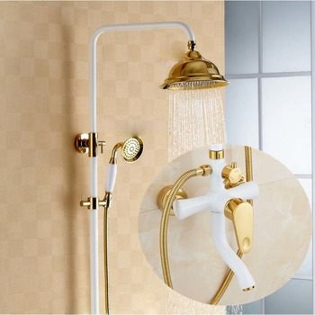 Modern Shower Faucets Wall Mount White Painting Good Quality Best