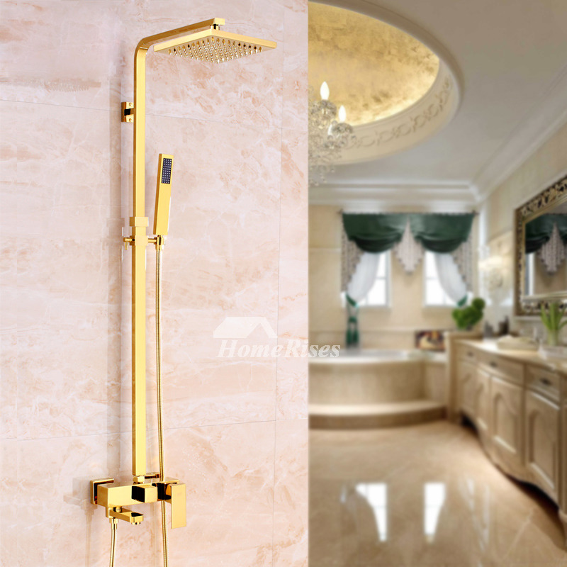 Rain Shower System Gold Exposed Luxury Discount Best Wall