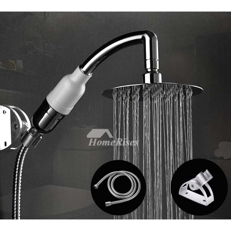 Designer Shower Head Hand Faucet Hose Adapter Silver