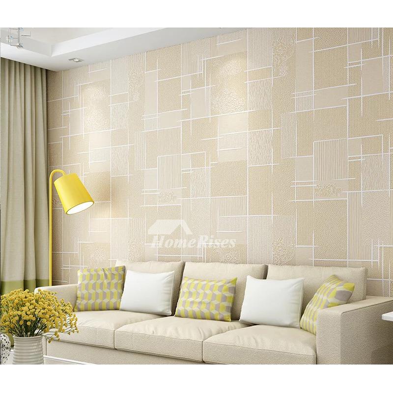 Textured Wallpaper Khakiyellowwhitegray 3d Art Mural Kitchen