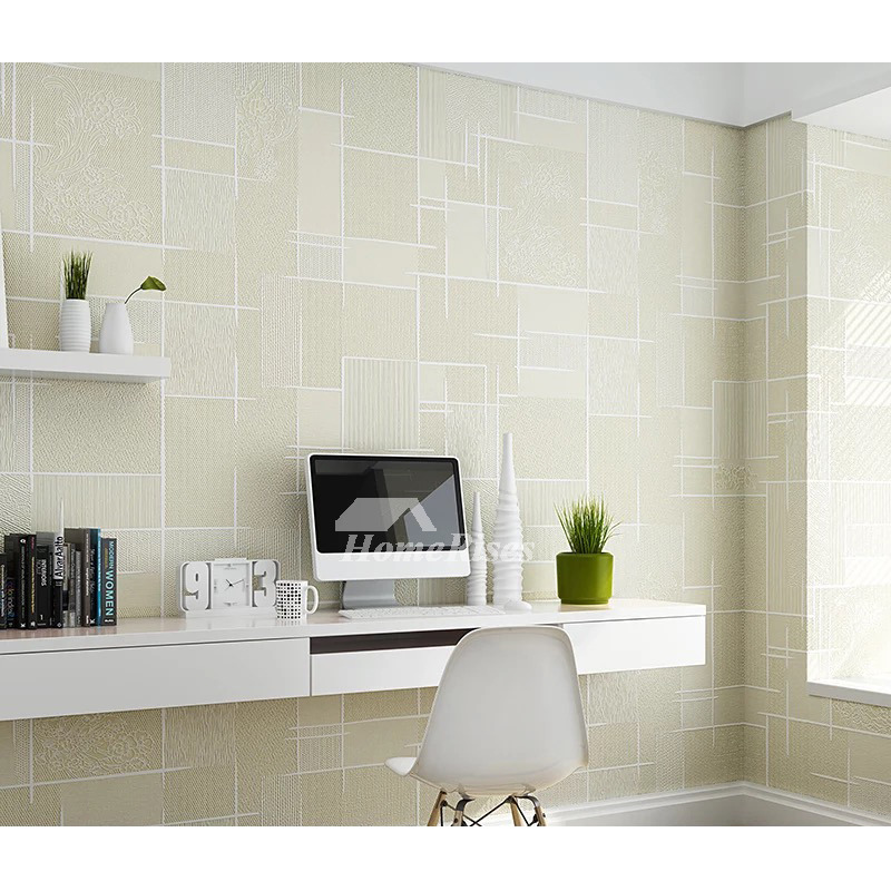 Gray Yellow White Kitchen: Textured Wallpaper Khaki/Yellow/White/Gray 3d Art Mural
