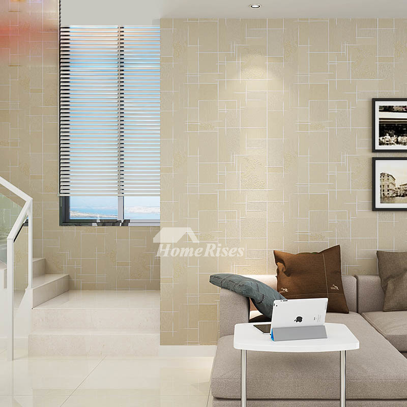 Textured Wallpaper Khaki Yellow White Gray 3d Art Mural