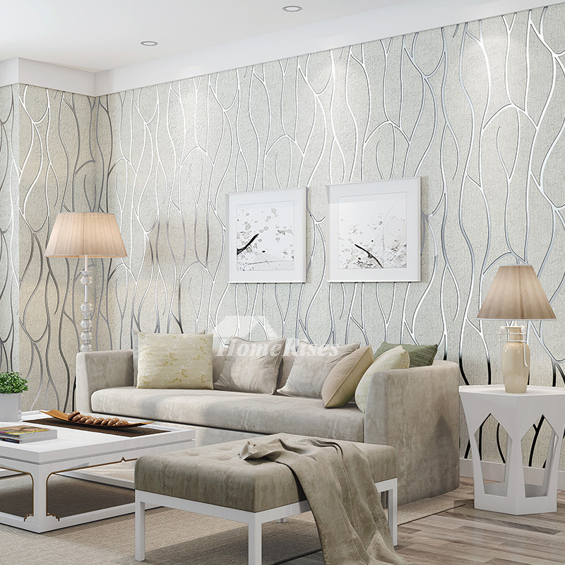 3d Mural Wallpaper White/Brown/Beige Textured Art Decor ...